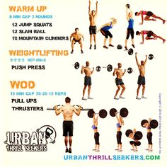 Workout of the day 12 Jump squats, 12 slam ball, 10 mountain climbers, Push…