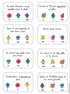 Pronominalisation du sujet – Litchi&co – cycles 1 et 2 Mr Men Little Miss, Powerful Pictures, French Education, French Grammar, French Classroom, French Resources, French Immersion, French Lessons, Language Activities