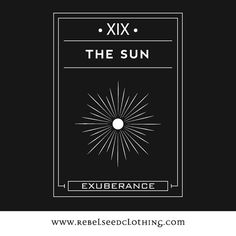"""The Sun Says: """"Your darkness is banished with the light of the Sun!"""" The Sun card is ruled by the zodiac sign of Leo. It sybolizes consciousness and is also consisered the most positive card in the deck. Perfect health, wealth, generosity and inner strength. When the sun is shining its time to play.  • Printed on Bella Flowy Tank • 3.7 oz., 65% polyester, 35% viscose; 30 singles • racerback with sheering at seam • sideseamed • merrowed bottom hem; easy, drapey fit"""