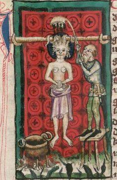 Jacobus : Legenda sanctorum aurea, verdeutscht in elsässischer Mundart [u.a.] 1362  Cgm 6 Folio NP