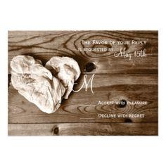 Shop Rustic Country Barn Wood Heart Wedding RSVP Cards created by CustomWeddingSets. Heart Wedding Invitations, Discount Wedding Invitations, Custom Wedding Invitations, Invites, Country Wedding Cakes, Rustic Wedding, Hunting Wedding, Wedding Rsvp, Barn Wood
