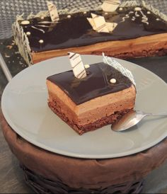 Mini Desserts, No Cook Desserts, Sweets Cake, Cupcake Cakes, Layered Deserts, Triple Chocolate Mousse Cake, Cake Chocolate, Cake Recipes, Dessert Recipes