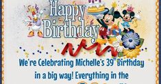 Have you heard, Michelle is celebrating 39 and she wants to celebrate with you!!!  She has a few new things for the store, a super Aweso... 39th Birthday, Happy Birthday, Disney Magical Express, Scrapbooking, Store, Celebrities, Happy Brithday, Celebs, Urari La Multi Ani
