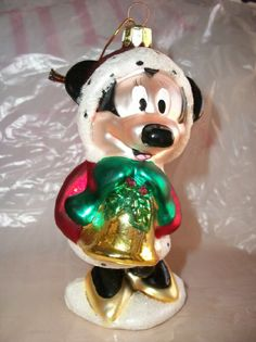 Energizer Disney's Mickey Mouse Christmas Ornament - Mouth blown * Handcrafted * European Style Glass -- I couldn't ask for more in a Christmas tree ornament!