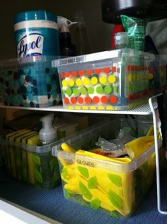 Organize The Under Sink Storage Area In The Kitchen - Heres detailed instructions complete with photos showing exactly how to do this! #organizing #kitchen