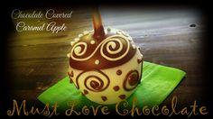 Chocolate Covered Caramel Apple Chocolate Dipped Fruit, Love Chocolate, Chocolate Covered, Birthday Candles, Birthday Cake, Caramel Apples, Sweet, Desserts, Food