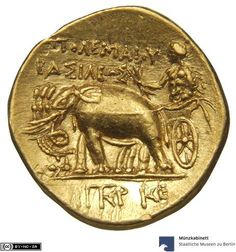 MK-B | Ptolemäer: Ptolemaios I. ca. 305-298 v. Chr. Antique Coins, Antique Gold, Pirate Coins, Gold And Silver Coins, World Coins, Ancient Jewelry, Coin Collecting, Mythical Creatures, Greece