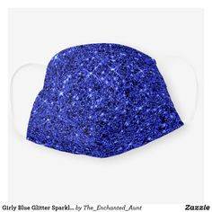 Shop Girly Blue Glitter Sparkle Chic Social Distancing Cloth Face Mask created by The_Enchanted_Aunt. Niece And Nephew, Blue Glitter, Personalized T Shirts, Casual Elegance, Looking For Women, Wearable Art, Snug Fit, Hipster Clothing, Art Clothing