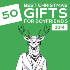 50 Best Christmas Gifts for Boyfriends of 2014- get him something he won't expect with this awesome list! A must-read before doing any Christmas shopping.