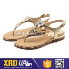Cheap price lades shoes women sandals/different women flat sandal pu shoes