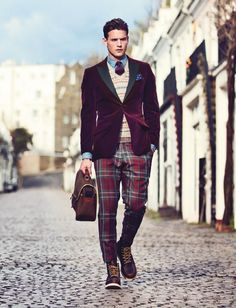 This look is so awesome. It makes the guy look like the most confident man on earth.