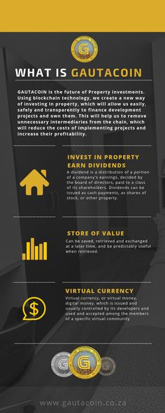 Invest in Property Through Blockchain 🇿🇦 Investment Firms, Investment Property, Crypto Money, Blockchain, Finance, Investing, How To Remove, Technology, Tech