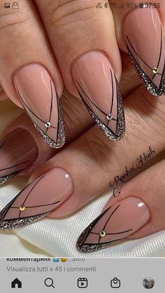 Stylish Nails, Trendy Nails, Cute Nails, Best Acrylic Nails, Acrylic Nail Designs, Fabulous Nails, Perfect Nails, Multicolored Nails, Nagellack Design
