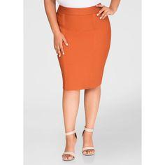 e797369e521 Ashley Stewart Exposed Zip Bandage Skirt ( 40) ❤ liked on Polyvore  featuring skirts