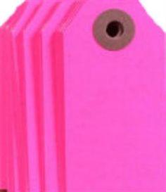 Neonpink gifttags, www.kindbynature.dk