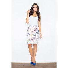 Pencil skirt with original pattern. A perfect match for a plain classic top. Long Skirts For Women, Short Skirts, Skirt Mini, Mini Skirts, Floral Pencil Skirt, Summer Skirts, Perfect Match, Skirt Fashion, A Line Skirts
