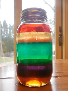 Science for kids ages 2 and up. We love fun science for kids and this easy activity is one of our favorites. With just a few household ingredients, you can actually pour a rainbow in a jar. Cool, huh?! Rainbow Jar Supplies This project requires quite a few things but most of it is probably stuff you already have lying …