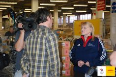 Olympic Curling Gold Medallist Rhona Martin visits the DHL logistics centre to see how we're helping Kit Out Team GB