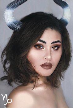 Capricorn Zodiac Makeup by Kimberly Money