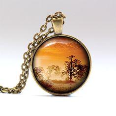 Sky charm Nature jewelry Sunset necklace sku by UKnecklace on Etsy