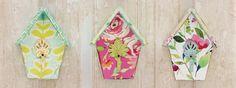Floral birdhouse hooks by Stephanie Ryan for Magnet Works - Studio M. Birdhouse, Hooks, Studio, Simple, Floral, Blog, Decor, Art, Art Background