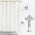 image of kate spade new york Deco Dot Shower Curtains in White