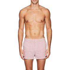 Solid & Striped Men's The Charlie Seersucker Swim Trunks ($148) ❤ liked on Polyvore featuring men's fashion, men's clothing and men's swimwear