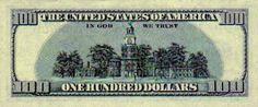 100 dolarów - rewers