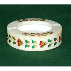 Marble Ash Tray - 4 Inch - Do you often mess up places while you smoke? Grab this marble ash tray and you will no more have mess around. This smart marble ash tray is hand carved with marble and decorated with stunning sequence work and pretty painted designs.   http://www.indiaplaza.com/marble-ash-tray-4-inch-handicrafts-hand27032012vic248-10.htm?utm_medium=social-media_campaign=Pinterest+daily+updates_source=Pinterest