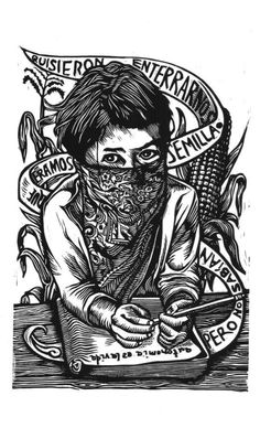 """Quisieron enterrarnos, pero no sabían que éramos semillas"" Character Illustration, Illustration Art, Riot Grrrl, Warrior Girl, Power Girl, Illustrations And Posters, Line Art, Printmaking, Street Art"