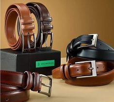 Marino's Men Genuine Leather Dress Belt with Single Prong Buckle. . . . . . . . #belt #leatherbelt #menfashion #menaccessories #giftsformen #belts #beltsformen #beltforman #giftforhim #giftforaman #genuineleather #genuineleatherbelt #realleather #modernbelts