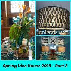 Today's tour of the Spring Idea House takes us through the dining room and kitchen. This is an old house so some of the ideas are unique to this house, but certainly can be altered to fit other places in your home.