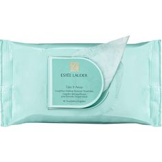 Estée Lauder Take it Away LongWear Makeup Remover Towelettes ($20) ❤ liked on Polyvore featuring beauty products, skincare, face care, makeup remover, fillers, beauty, makeup, blue fillers, accessories and doodle