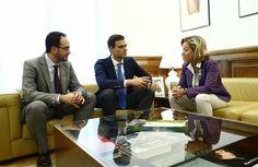 Pedro Sánchez comparte con Coalición Canaria su rechazo a las prospecciones.
