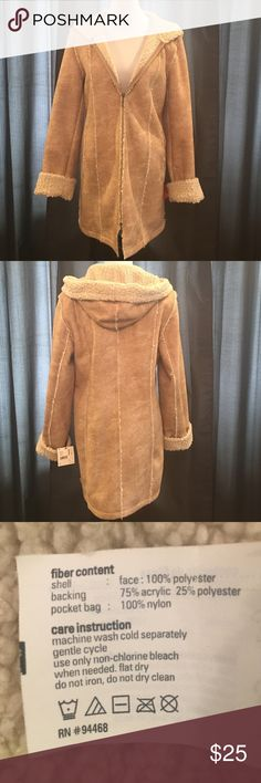 Esprit Coat Hooded coat, fully lined. Not much use for it here in Hawaii ☀️ ESPRIT Jackets & Coats