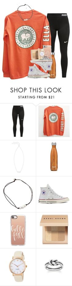 """""""ugh"""" by ellaswiftie13 ❤ liked on Polyvore featuring NIKE, Kendra Scott, S'well, Converse, Casetify, Bobbi Brown Cosmetics, Kate Spade and Avery"""