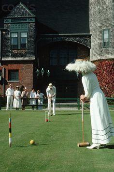 Playing Croquet at Newport www.mottandchace.com  Rhode Island             #VisitRhodeIsland