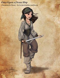 Yenthe Joline Art • New drawing for my Disney Princesses as Pirates...