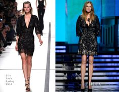 Julia Roberts In Elie Saab – 2014 Grammy Awards. Same old drab hair.... Can she not hire a hairdresser?????