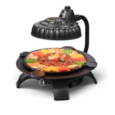 Zaigle Handsome Infrared Portable Electric Grill with Tongs Color: Black Indoor Outdoor Grill, Grill Stand, Breakfast Sandwich Maker, Cast Iron Wok, Ceramic Grill, Gotham Steel, Specialty Appliances, Kitchen Appliances, Grill Plate