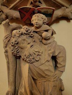 St Christophe et l'enfant Jésus - Soultzbach-les-Bains, Haut-Rhin