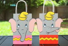 Decorate your Dumbo Party with these cute faces. Use them to create your own favor bags. Instructions: Print as many copies as you need Cut Paste and Assemble on the bags of your choice. Dumbo Birthday Party, Twin First Birthday, Carnival Birthday Parties, Circus Birthday, First Birthday Parties, Birthday Party Decorations, Birthday Ideas, Circus 1st Birthdays, First Birthdays