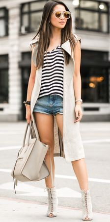 Beige Vest Trench Fall Inspo                                                                             Source