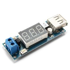 2s-3 de la batería lipo adaptador convertidor de corriente USB con pantalla digital