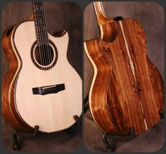 Charis Acoustic!  S/N 369. This instrument features a beautiful Honduran Rosewood back and sides The eye catching sapwood is accented by the work done by God's little creatures before this wood was harvested. We paired this back/side with an Adirondack Spruce top