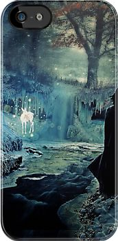 i-phone case -  The Silver Doe BIG/Harry Potter by scatharis