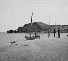 Charleston, South Carolina. View of Fort Sumter from the sand bar. Date Created/Published: 1865.