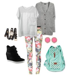Excellent Images For - Casual High School Outfits Back School Outfits, First Day Of School Outfit, Back To School Fashion, College Outfits, Cute Fall Outfits, Outfits For Teens, Fashion Outfits, Girly Outfits, Tween