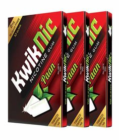 Kwiknic #tobaccoChewinggumIndia is used to kick out smoking habit without any craving.