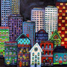 Cityscape  from the Instacanvas gallery of danacargile_art.
